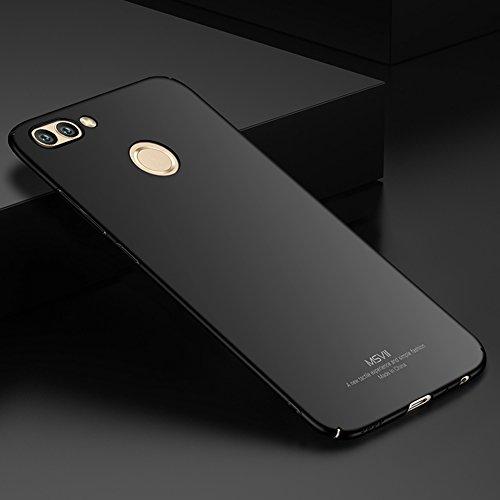 Huawei nova 2 plus Hülle, MSVII® Sehr Dünn Hülle Schutzhülle Case Und Displayschutzfolie für Huawei nova 2 plus (Nicht mit Huawei nova 2 kompatibel) - Blau JY00238 Schwarz