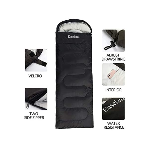EASELAND 3-4 Season Envelope Style Sleeping Bag for Camping,Hiking,Backpacking and Outdoors Activity-Suit for Adults… 3
