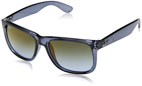 Ray-Ban Herren 0RB4165 6341T0 55 Sonnenbrille, Transparent Blue/Bluegradientgreenmirrorred