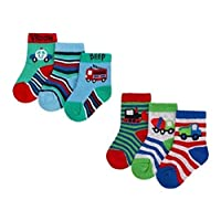 6-Pack Baby Boys Socks Cotton Rich
