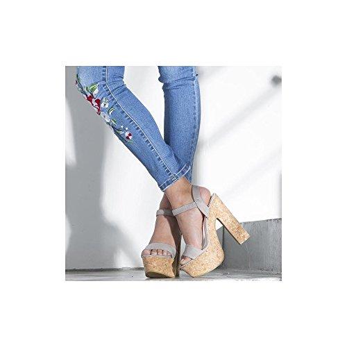 Sandalen Shoes Damen Damen Ideal Sandalen Shoes Damen Grau Grau Ideal Shoes Ideal ExC16fCqwv