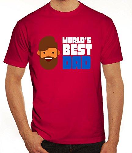 Geschenkidee Herren T-Shirt mit World's Best Dad Motiv von ShirtStreet Sorbet
