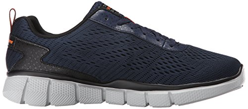 Skechers Equalizer 2.0 Settle the Scor, Chaussures Multisport Outdoor Homme Bleu (Marine/Orange)