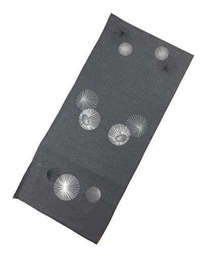 Weihnachten Bestickt Starburst Kreise Dunkelgrau Silbergrau Tischläufer 40X160CM