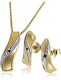 Goldmaid - Parure - Or jaune - Saphir