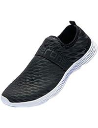 Ranberone Zapatos de Agua para Hombre Zapatos Descalzos de Secado rápido Antideslizantes para Aqua Beach Surf Natación Canotaje Pesca Caminar Ligero Sandalias Deportivas de Verano 39-50