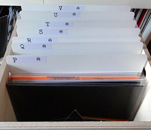 """Confezione da 10 divisori per album LP in vinile da 12"""", ideali per negozio di dischi, spessore 800micron, colore bianco"""