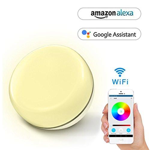 Opard Smart lichtwecker Nachtlicht Alexa Stimmung Licht Arbeit mit Alexa und Google home, Steuern auf Smartphone, Timing und Farbe ändern, Weiß