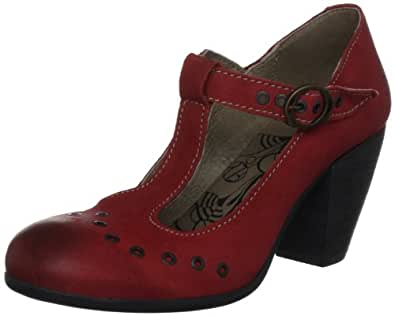Fly London Women's Apex Mary Janes Red 35 EU
