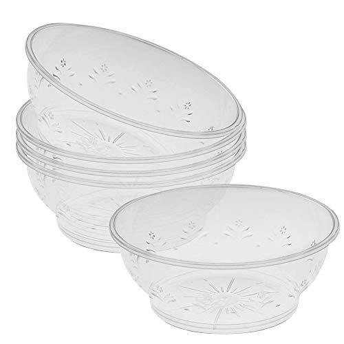 40 Elegante Klar Plastikschüsseln, 180ml - Wiederverwendbar Suppenschüssel, Dessertschüsseln, Salatschüssel - Spülmaschinenfest, Robust & Stabil - Perfekt für Catering Partys Hochzeiten Geburtstage.