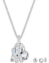 Elli Schmuckset Herz Liebe Swarovski Kristalle 925 Silber 0912140916