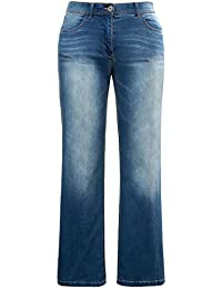 686e8b4687e8 Ulla Popken Damen große Größen bis 60   Jeans Hose im Bootcut Fit   Denim,