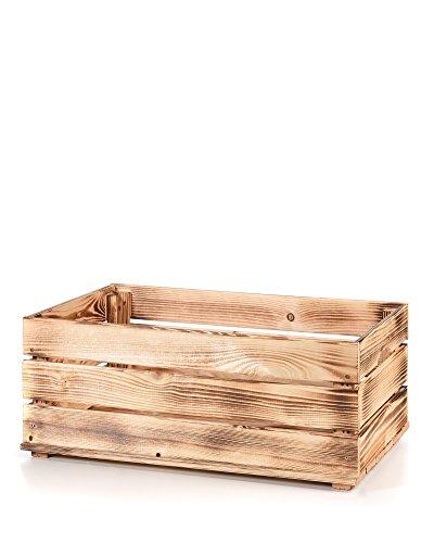 MyHomery Massive Holzkiste   Vintage Kiste   Weinkiste Aus Holz  Obstkiste  Groß Zur Dekoration Und