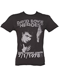 Amplified Mens David Bowie 1978 T Shirt Charcoal