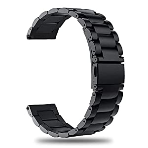 TRUMiRR Für Garmin Vivoactive HR Armband Metall, Quick Release Uhrenarmband Edelstahl Metall Ersatz Band für Garmin Vivoactive HR Smart Watch