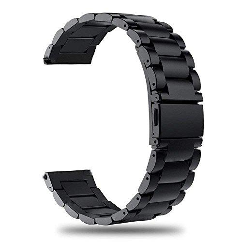 TRUMiRR Armband kompatibel Für Garmin Vivoactive HR Armband Metall, Quick Release Uhrenarmband Edelstahl Metall Ersatz Band für Garmin Vivoactive HR Smart Watch