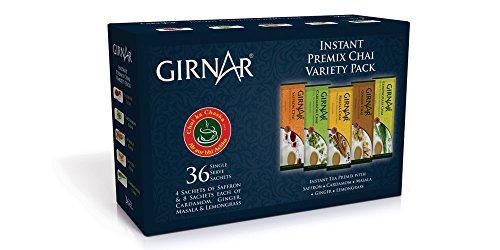 Girnar Instant Premix Chai - Variety Pack (36 Sachets)