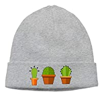 AZXGGV Men Women Cactus Plant Soft Knit Hats