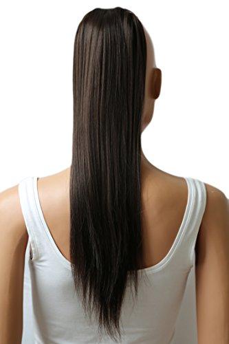 PRETTYSHOP Haarteil hairpiece Zopf Pferdeschwanz Haarverlängerung 60cm glatt diverse Farben HC3a