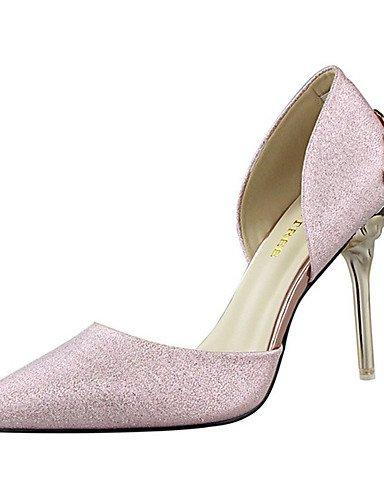 WSS 2016 Chaussures Femme-Décontracté-Noir / Rose / Blanc / Argent / Or-Talon Aiguille-Talons-Talons-Laine synthétique pink-us7.5 / eu38 / uk5.5 / cn38