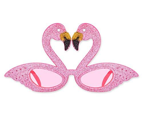 Kostüm Lustige Flamingo - SCSpecial Party Sonnenbrille Hawaii Flamingo Sonnenbrille Neuheit Brillen für Kinder Kostüm (Rosa)