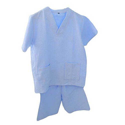 Blancho Coton Waffle Tissu Khan Vapeur Vêtements Pyjamas Courte Suit Loose Home Wear