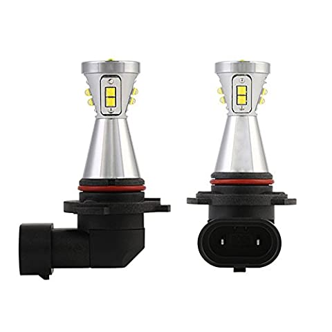FEZZ Auto LED Fog Driving Lights Bulbs HB3 9005 with CREE LED 9MD Chips 50W White Aluminium Alloy