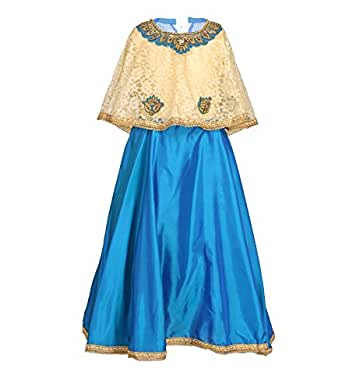 Arshia Fashions Girls Party Wear Gown With Poncho Amazonin