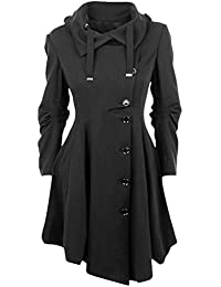 0273dab044399 Vogstyle Women s Casual Jacket Plus Size Asymmetrical Hem Trench Long Coat