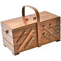 Aumuller Korbwaren AUMUL - Costurero (madera de haya), color marrón