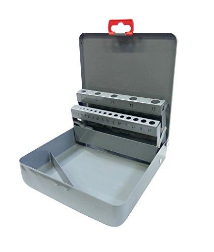 Spiralbohrerkassette Metallbohrerkassette 19 tlg. LEER grau 1,0 mm - 10,0 mm Leerbox zum eigenen Bestücken