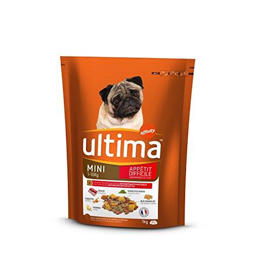 Ultima crocchette per Cane Mini Adulto Appetito Difficile Manzo, Verdura e Frutta 1kg-Confezione da 8
