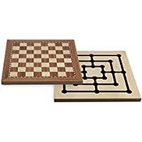 Juego JU0040 - Familien Brettspiel, Chess-Tria, mehrfarbig