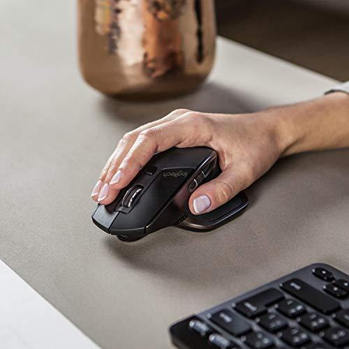 Logitech MX Master AMZ Mouse Wireless Bluetooth per Windows e Mac, Unifying e Bluetooth per Mac e Windows, Ricaricabile, Scroller Azionabile, Nero