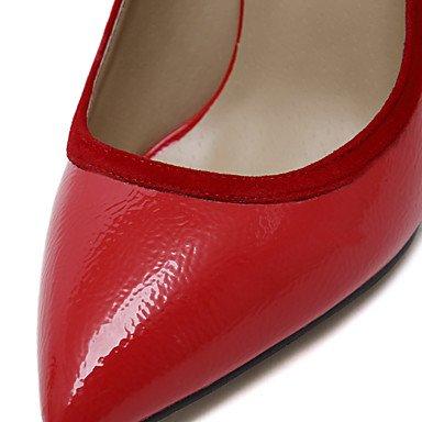 Moda donna sexy sandali scarpe donna nuovo arrivo Slip-on Split sexy tacchi comune/Pompe Punta tacchi a spillo Party/Dress/Scarpe Casual Red