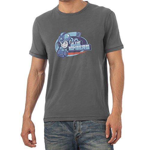 TEXLAB - Blue Bombers - Herren T-Shirt, Größe M, grau