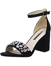 30686, Zapatos con Tacon y Correa de Tobillo para Mujer, Negro (Black), 38 EU Xti