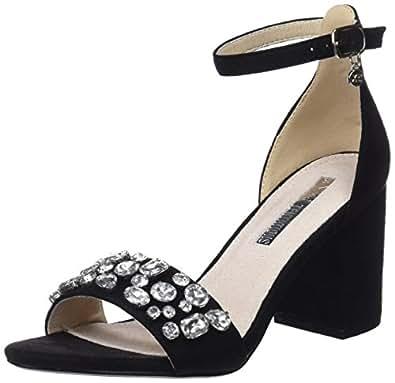 XTI 30755 Scarpe con Cinturino alla Caviglia Donna Nero Black 40 EU