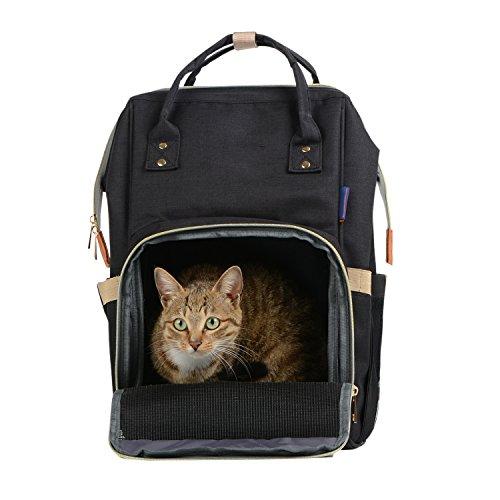 Boodtag Haustier Rucksack Atmungsaktiv Hund Katze Doppel-Schulter für Reise & Transport Boodtag