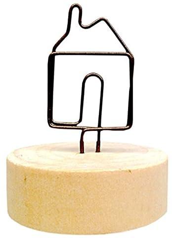 Ensemble de 5 titulaires de mémo créatifs en bois Notes de message Cartes-photos de cartes postales Mémo Clip # 9