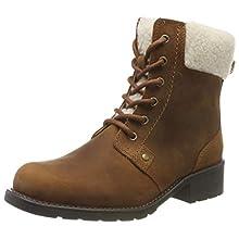 Clarks Women's Orinoco Dusk Biker Boots, Brown (Tan Leather), 4 UK