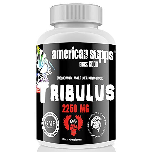 Tribulus Terrestris - 90 Tabletten I hochdosiert I 90% Saponingehalt* I Männlichkeit I Testosteron I Libido I Potenz I Kraft I Muskelaufbau I Fitness I Bodybuilding -