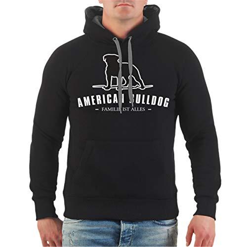 Spaß kostet Männer und Herren Kapuzenpullover American Bulldog Größe S - 8XL -