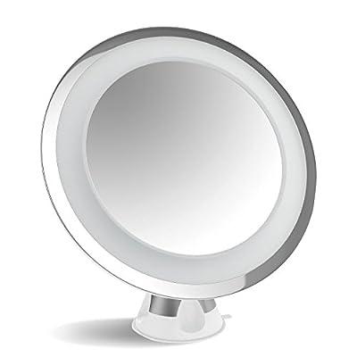 acevivi 7x Lupe Beleuchtete Schminkspiegel, Fogless Kosmetikspiegel Spiegel mit 15Min Automatisches Abschalten, 360° Drehgelenk schnurlose und kompaktes 15,2cm Erweiterung für Fellpflege, Reisen, Bad, Fitnessraum, Wellness