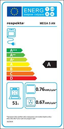 respekta Einbau Herdset Backofen autark Set 6 Funktionen rahmenlos Ceranfeld Touch-Sensor Mega Set 5AN 4400