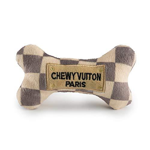 Haute Diggity Dog HDD-008-SM Checker Chewy Vuitton Bone, klein