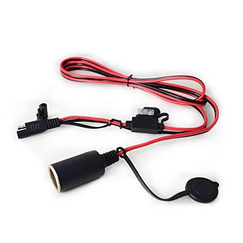 Adaptador de Cable de extensión para Encendedor de Cigarrillos de Coche, Enchufe Hembra de 3,2 pies, Conector de Repuesto para Puerto de mechero de Coche, 12 V, 5 A, 60 W