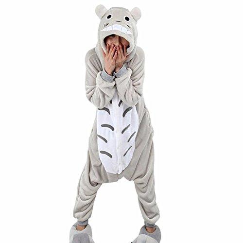 Für Kostüm Toto Erwachsene - QIYUN.Z Cartoon Toto Verbunden Pyjamas Anime Unisex Winter Hüfte Reißverschluss Niedliche Nachtwäsche