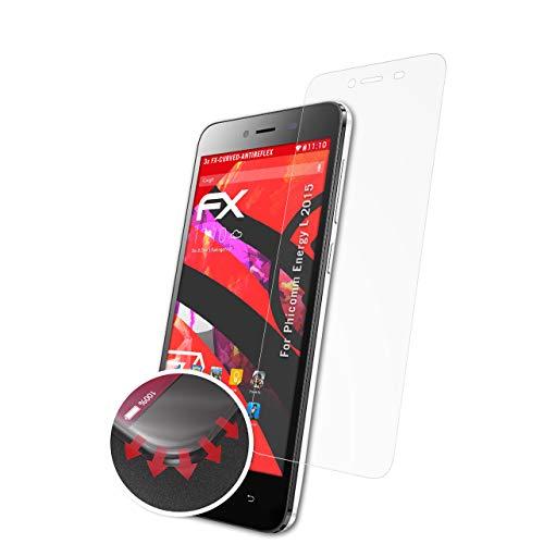atFolix Schutzfolie passend für Phicomm Energy L 2015 Folie, entspiegelnde & Flexible FX Bildschirmschutzfolie (3X)