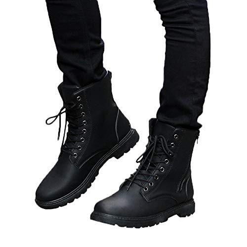 Stivali da equitazione,stivaletti uomo elegante,scarpe in pelle da uomo,yanhoo stivali in pelle da uomo stivali con lacci in pizzo stivali invernali autunno inverno